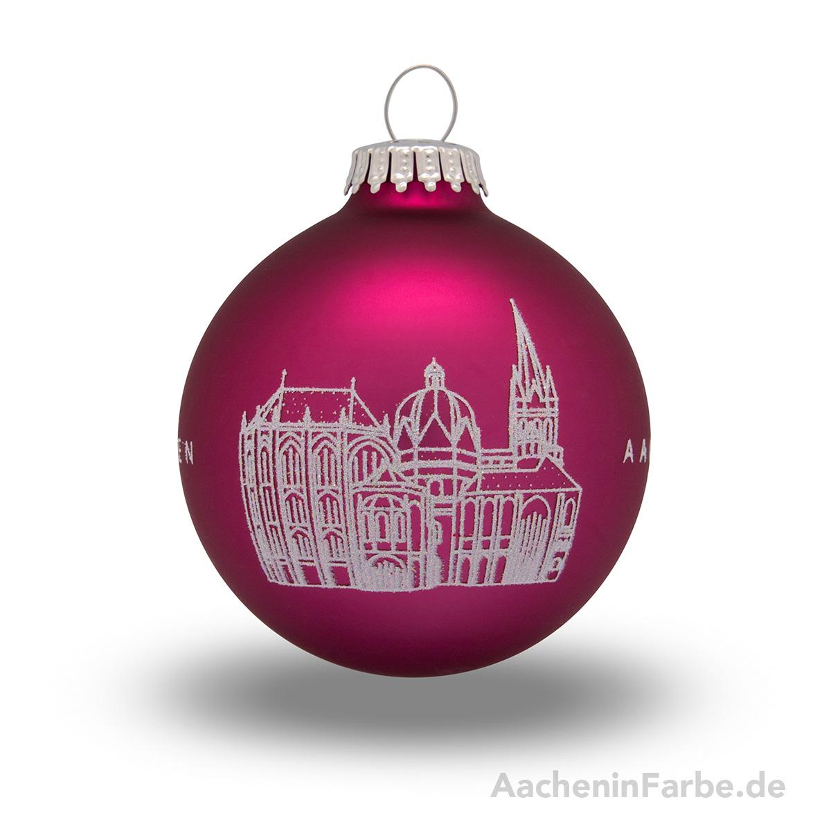 "Christbaumkugel ""Aachener Dom"", berry"