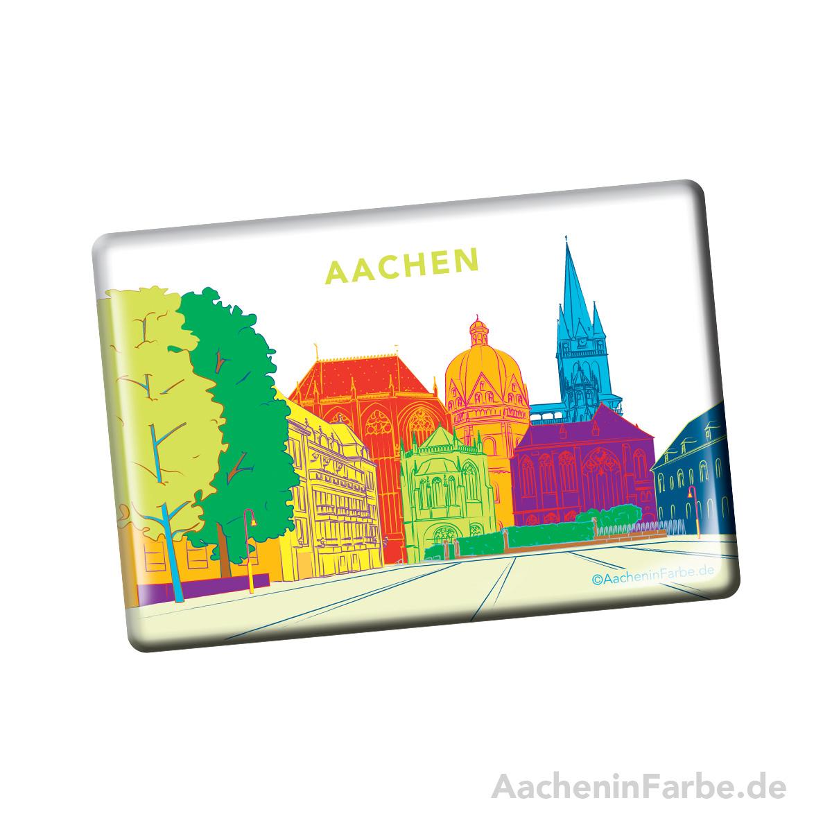 Magnet Aachener Dom, bunt