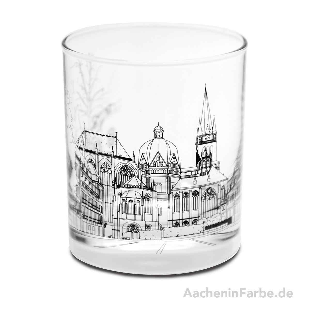 Glas Aachener Dom, schwarz