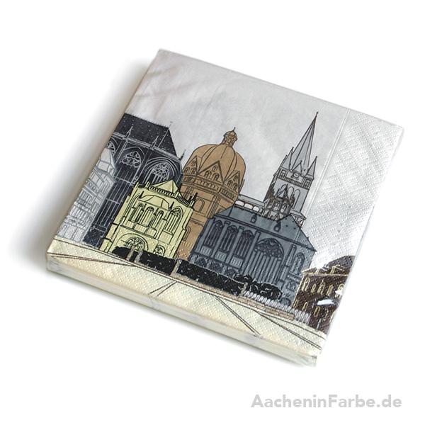 Serviette Aachener Dom, pastell