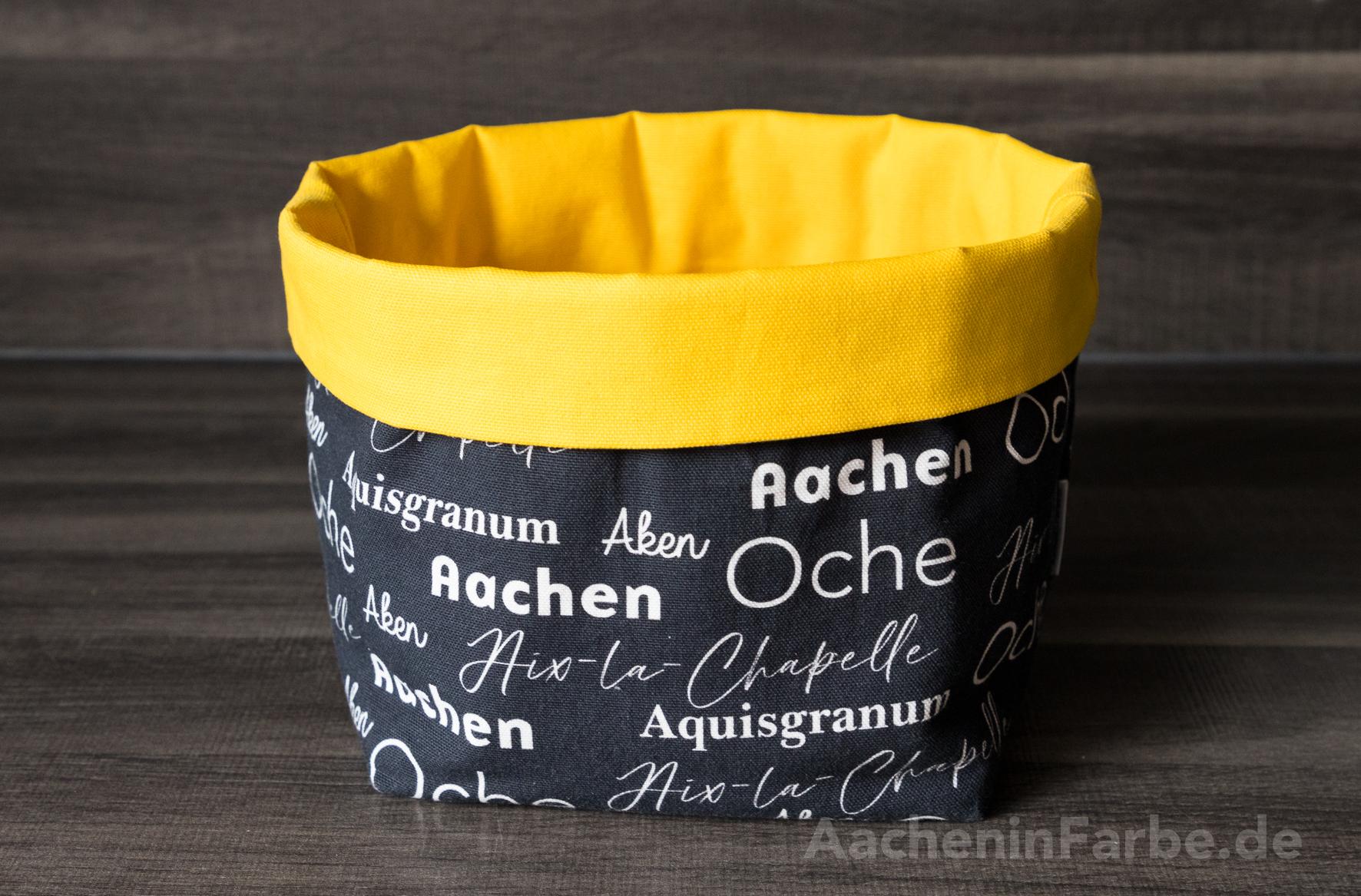 """Stoffkorb L, """"Aachen International"""", schwarz-gelb"""