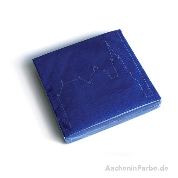 Cocktailserviette Aachen Outline, blau