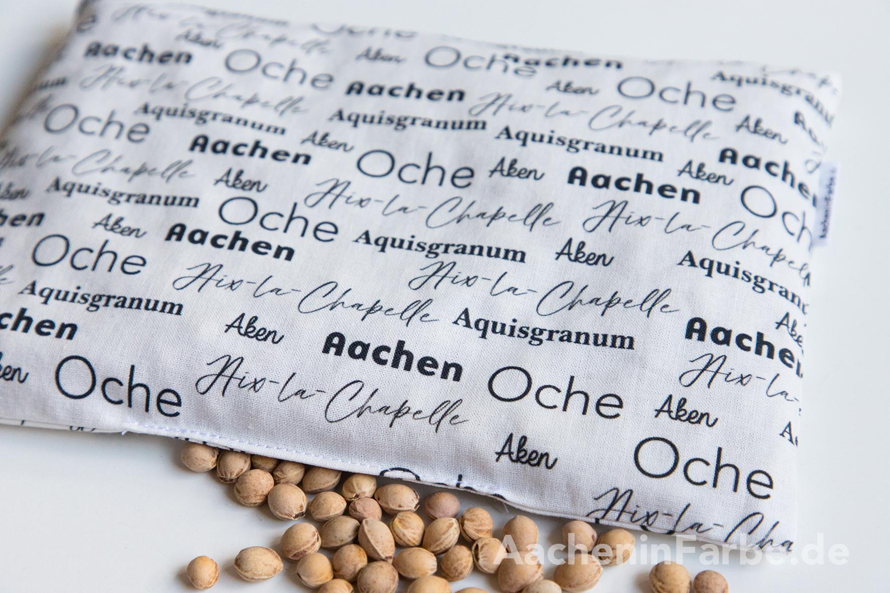 """Kirschkernkissen """"Aachen International"""", weiß-schwarz"""