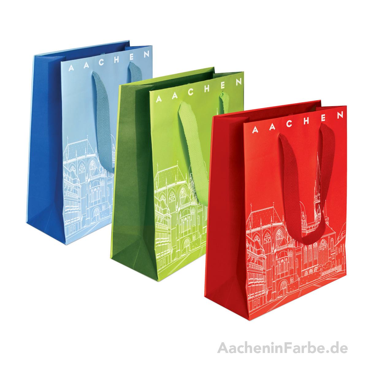"Geschenktüte ""Aachener Dom"", blau"