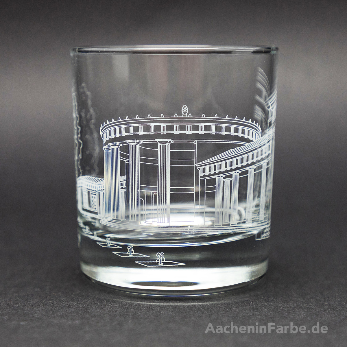 Glas Aachener Elisenbrunnen, weiß