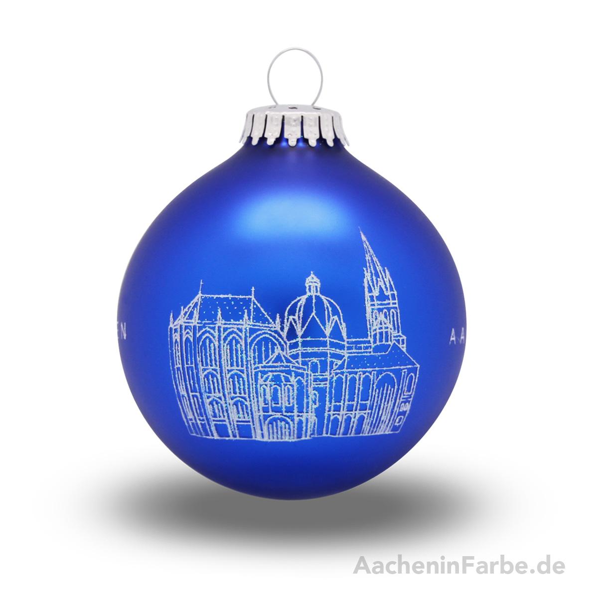 "Christbaumkugel ""Aachener Dom"", blau"