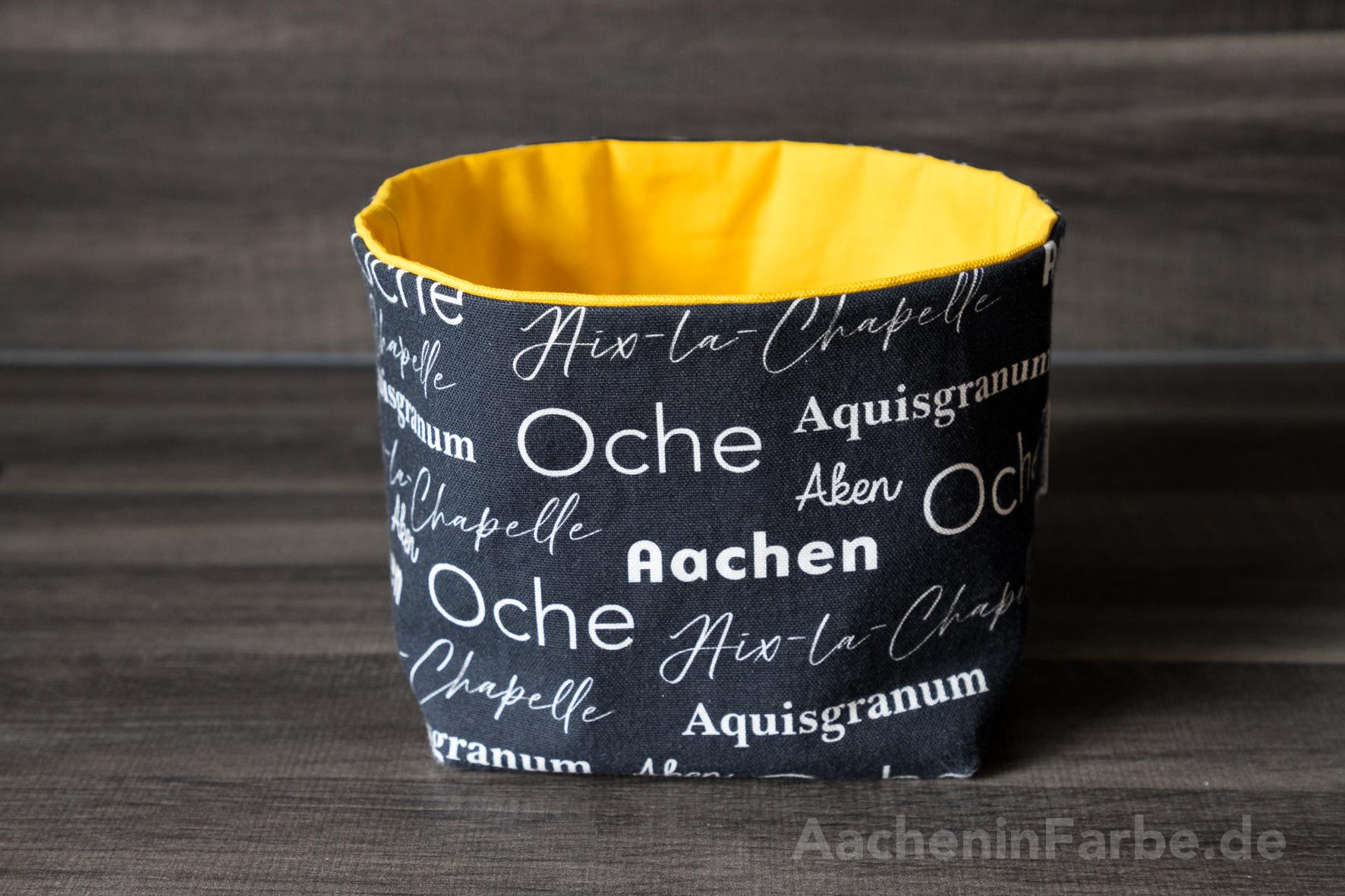 """Stoffkorb M, """"Aachen International"""", schwarz-gelb"""