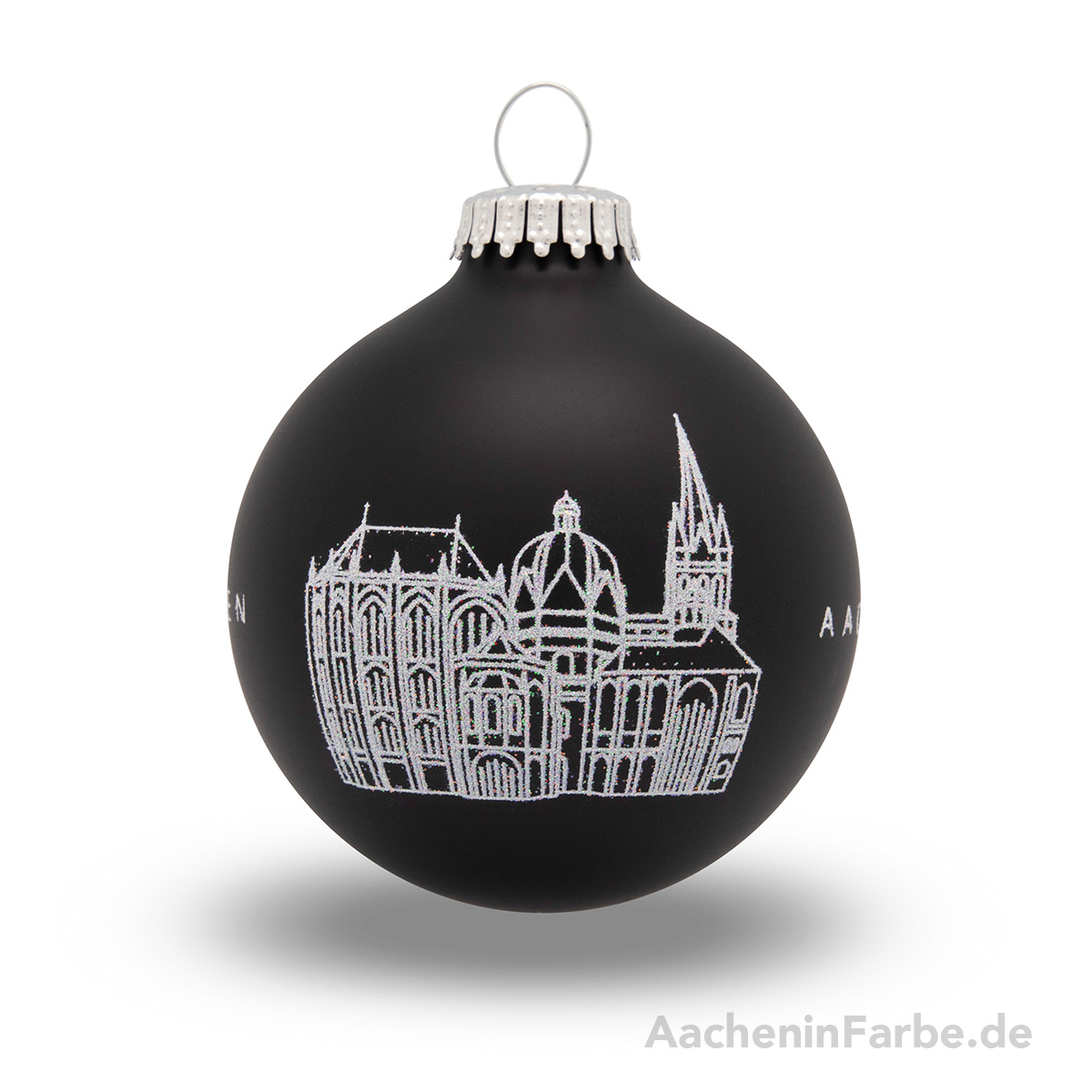 "Christbaumkugel ""Aachener Dom"", schwarz"