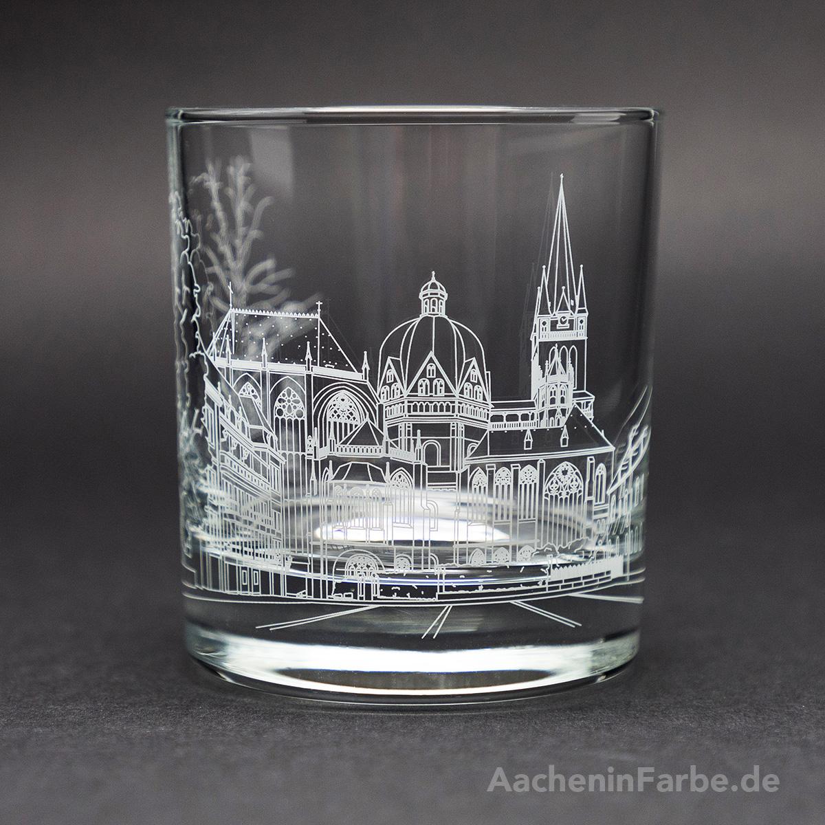 Glas Aachener Dom, weiß