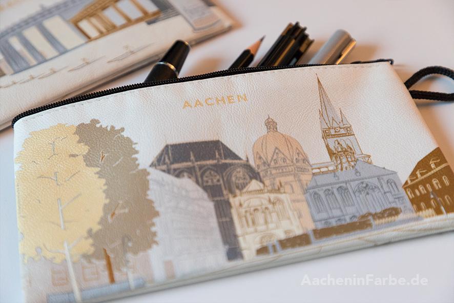 """Mäppchen """"Aachener Dom & Elisenbrunnen"""", pastell"""