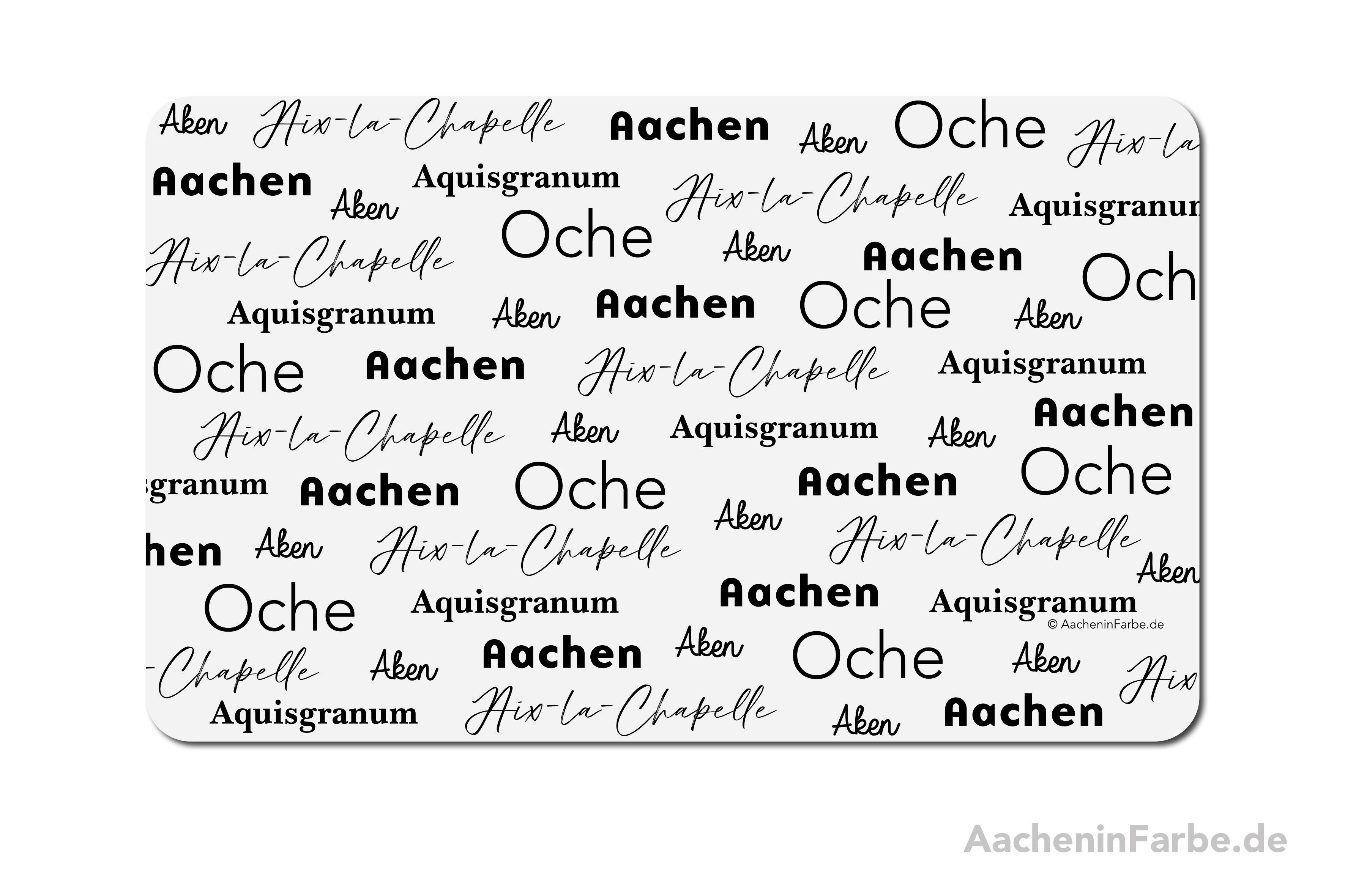 """Frühstücksbrettchen """"Aachen International"""", weiß-schwarz"""