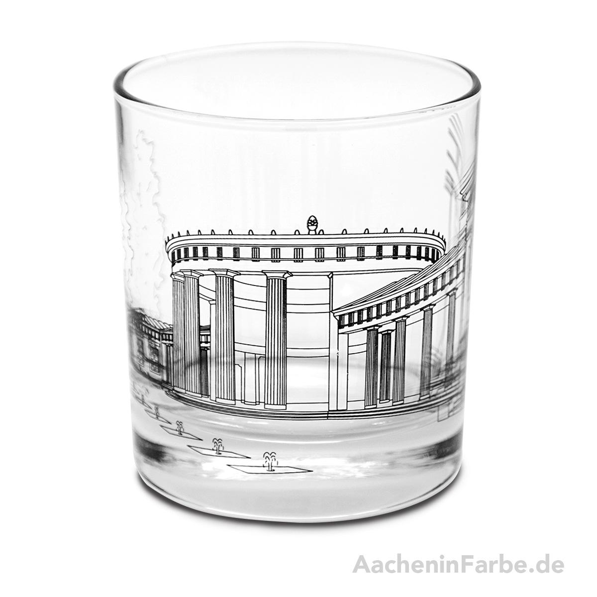 Glas Aachener Elisenbrunnen, schwarz