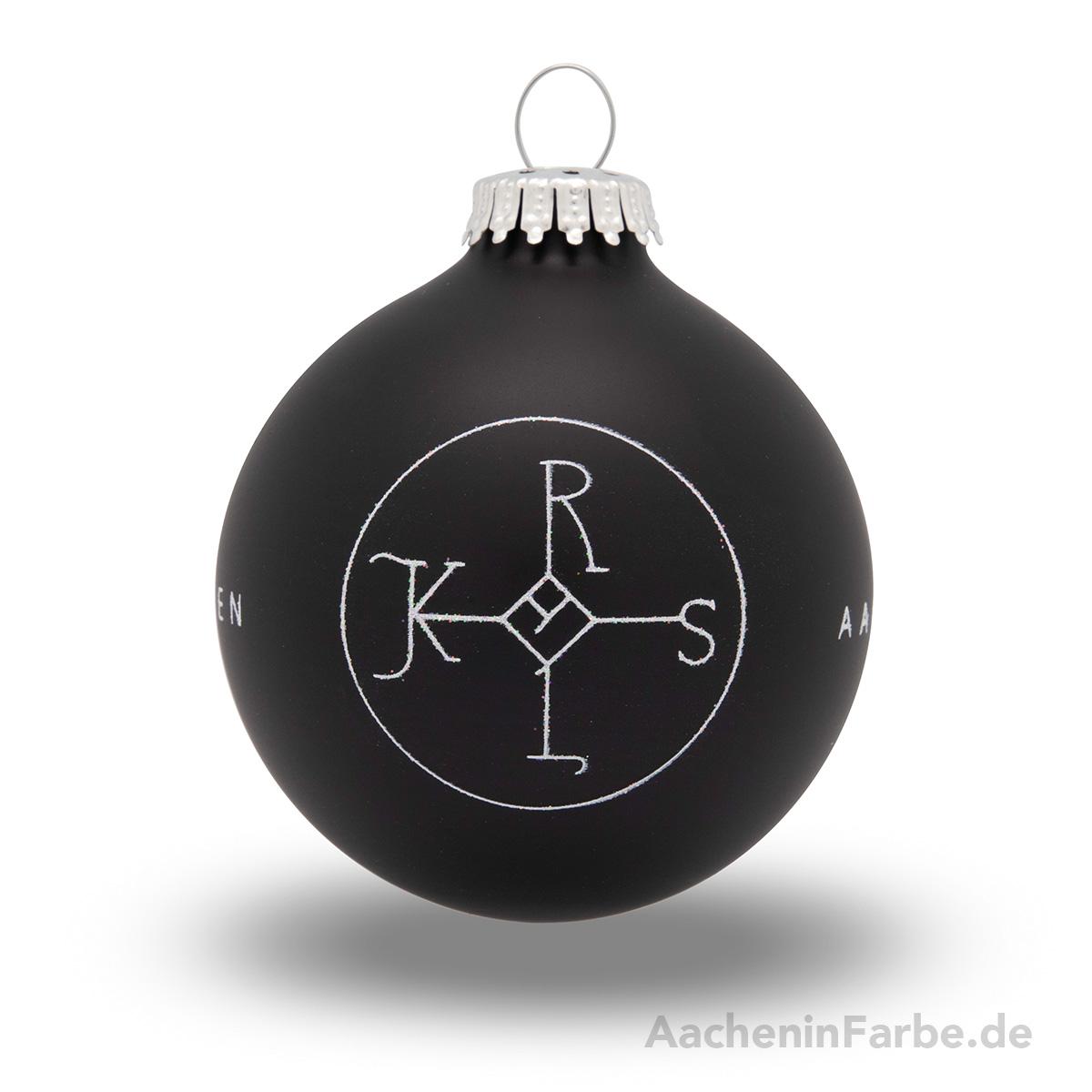 """Christbaumkugel """"Aachen Karlssiegel"""", schwarz"""