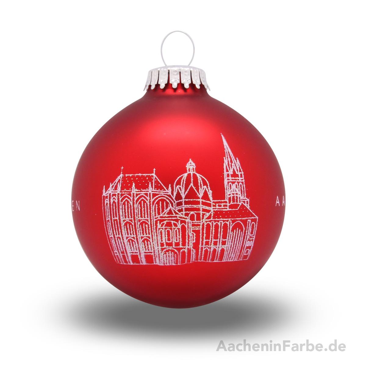"""Christbaumkugel """"Aachener Dom"""", rot"""