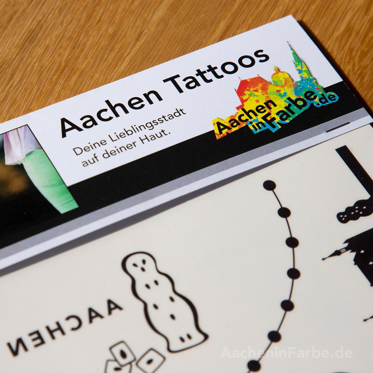 Tattoos Aachen, schwarz, Bogen DIN A4